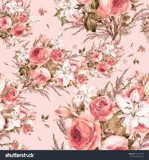 Seamless pattern of a beautiful bouquet Q