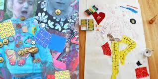 Image Amazon Collage Art Ideas For Kids With Mixed Media The Artful Parent Collage Art Ideas For Kids 50 Fun Collage Activities Children Can Do