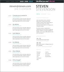Web Resume Templates 4 Column Grid Single Page Resume Template Web