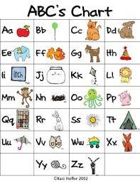 Animal Abc Chart Abc Chart