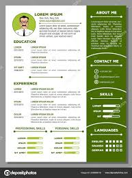 Resume And Cv Template With Nice Design Stock Vector Zfmbek