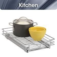 Kitchen Cabinet Sliding Shelf Amazoncom Lynk Professional Roll Out Cabinet Organizer Pull