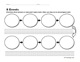 Graphic Organizers Sequence Of Events Chart 8 Events Sequence Organizer Freeology