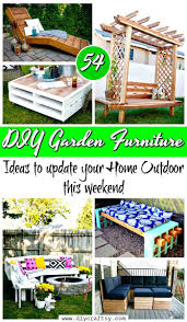 diy outdoor garden furniture ideas. 54 DIY Garden Furniture Ideas To Update Your Home Outdoor - Projects Diy U