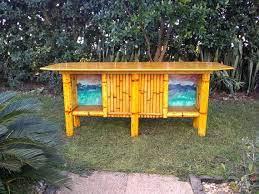 bamboo tiki bar outdoor patio table