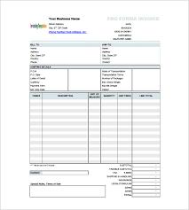Proforma Invoice Format Intersectionpublishing