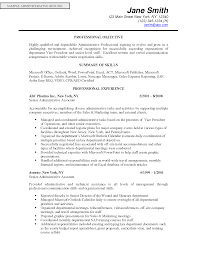 Cover Letter Professional Objective Statement For Sales Resume