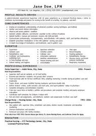 Nurse LPN Resume Example