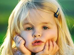 Cute Little Girl, Kid, Small Hand, Blue ...