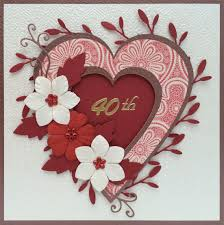 Handmade 40th Wedding Anniversary Card Designed By Cookies And