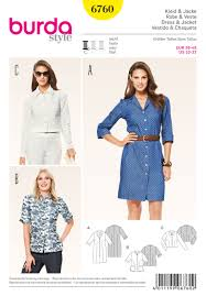 Burda Patterns Extraordinary 48 Burda Pattern Misses Button Front Shirt Dress Tunic And Jacket