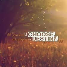 Destiny Quotes Amazing You Should Choose Not Accept Your Destiny Quote