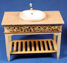 unfinished dollhouse furniture. Bathroom Sink - Unfinished Dollhouse Furniture