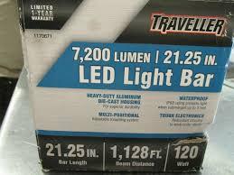 Traveller Led Light Bar Review Traveller 7 200 Lumen Led 21 25in Light Bar 1170671