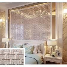 cream crystal glass tile backsplash ideas bathroom silver 304 stainless steel tiles for kitchen bedroom