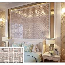 cream crystal glass tile backsplash ideas bathroom silver 304 stainless steel tiles for kitchen bedroom