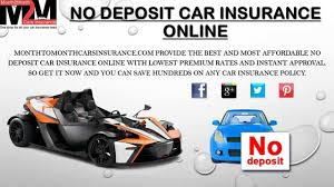 best no deposit car insurance quote