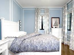 light blue walls grey curtains gopelling net