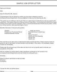 Formal Job Offer Template 3 Job Offer Letter Sample Free Download