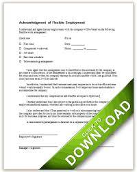 company property acknowledgement form flexible work arrangement acknowledgement form gif