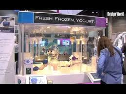 Froyo Vending Machine New Reis And Irvy's Have A Robot Serve You Frozen Yogurt At YouTube