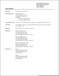 Resume Outlines Free Resume Outlines Free Sample Resumes In Word ...