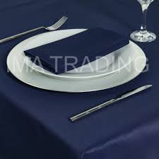 navy round table cloth 305cm 120 round 6 table