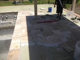 travertine pavers over concrete patio patio designs within sizing 3264 x 2448