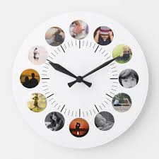 personalized wall clock with photos
