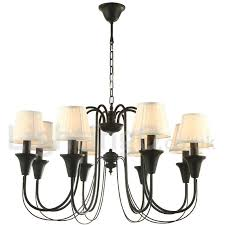 8 light black living room bedroom dining room retro candle style chandelier