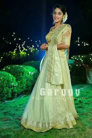 Engagement Lehenga Designs 2018 Kerala Bridal Lehenga Engagement Wear From Garggy Fascino