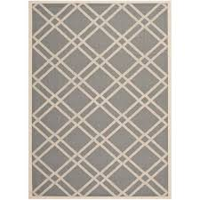 safavieh courtyard indoor outdoor 6 7 x 9 6 square area rug anthracite only