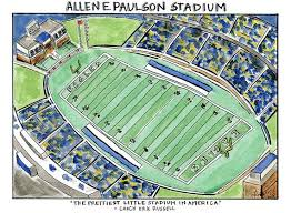 Allen E Paulson Staduim Statesboro Ga 8 X 11 By