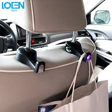 Car Back Seat Light Us 7 74 20 Off 2pc Car Seat Back Hook Hanger White Blue Led Lights Purse Bag Holder Organizer Car Styling Interior Accessories Fastener Clip In Auto