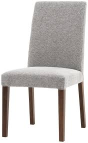 new genova chair available in all fabrics and leathers as shown light gray mojave fabric walnut veneer h36¾ 18¾xw19xd23¼ chairs d016 also