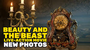 new beauty and the beast photos reveal prince adam lumiere and cogsworth and gaston s tavern you