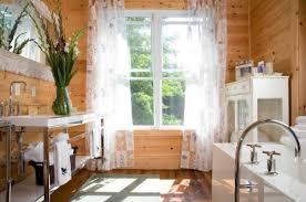 rustic horizontal white pine paneling