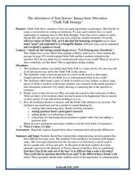 the adventures of tom sawyer chalk talk strategy rdquo th th the adventures of tom sawyer chalk talk strategyrdquo lesson plan