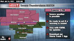 TRACKING: Severe Thunderstorm WATCH ...