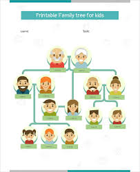 18 Family Tree Template For Kids Doc Excel Pdf Free