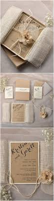 best 25 box wedding invitations ideas only on pinterest box Wedding Invitation With Box lace and burlap rustic box wedding invitations with flowers wedding invitation with bow