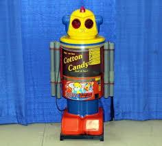 Robot Cotton Candy Vending Machine Custom Vintage Target International Holdings LTD Candy Floss Robot Cotton