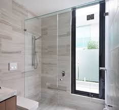 frameless glass shower screen inline hinged