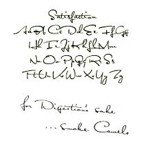 50s 60s Era Handwriting Cursive Font Lettering Hand