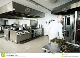 Industrial Kitchen Cook In Industrial Kitchen Stock Photography Image 34864862