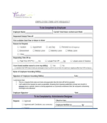 Time Off Request Form Pdf Employer Time Off Request Form Template Card Iinan Co