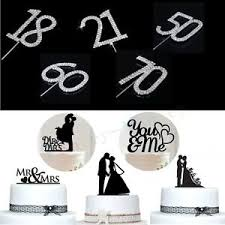 Cake Topper Wedding Mr Mrs Bride Groom Anniversary Party Favours