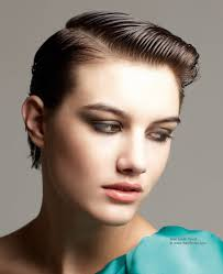 Wet Look Hair Style short hairstyle transformed into a sleek elegant wetlook 7585 by wearticles.com