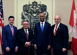 homeland security secretary kelly members of the canadian cabinet including public safety minister ralph goodale minister
