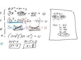 Ac Method Solving Quadratics Ac Method Youtube